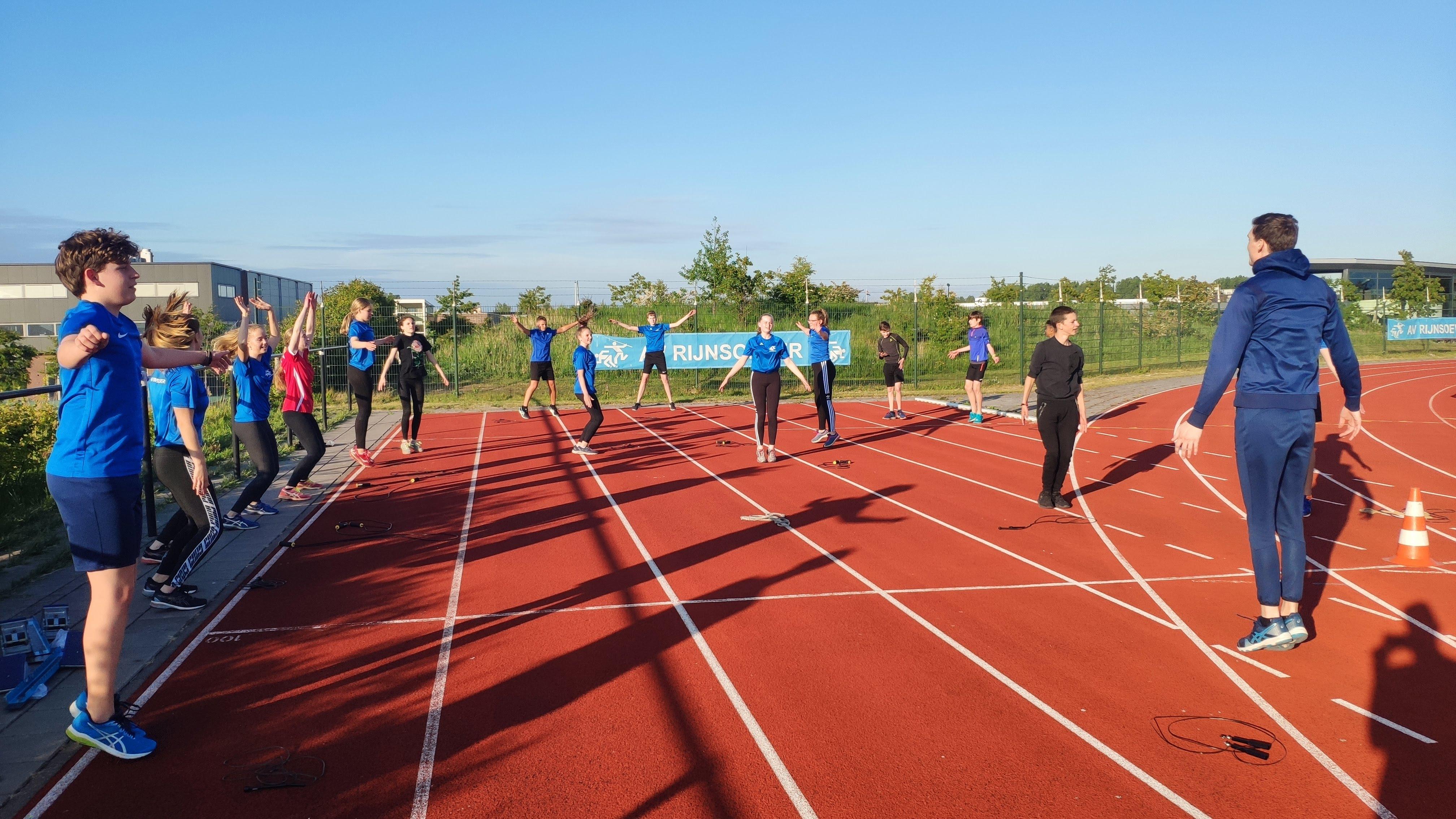 Training van de Wedstrijdgroep C-/D-Junioren
