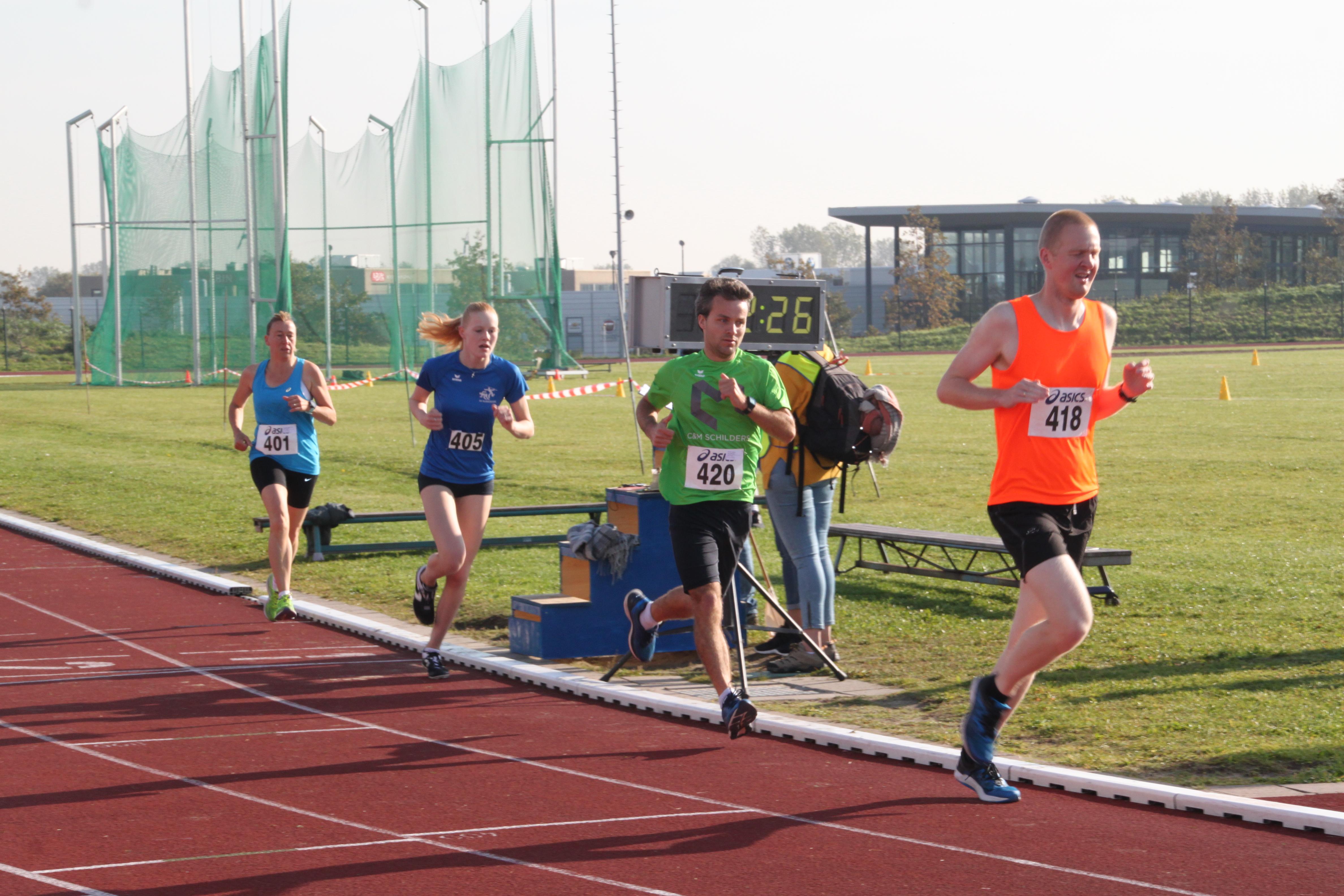 Finish 1500m bij de clubkampioenschappen